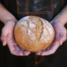 Pan redondo de espelta integral 450gr